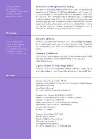Maureen Minchin CV